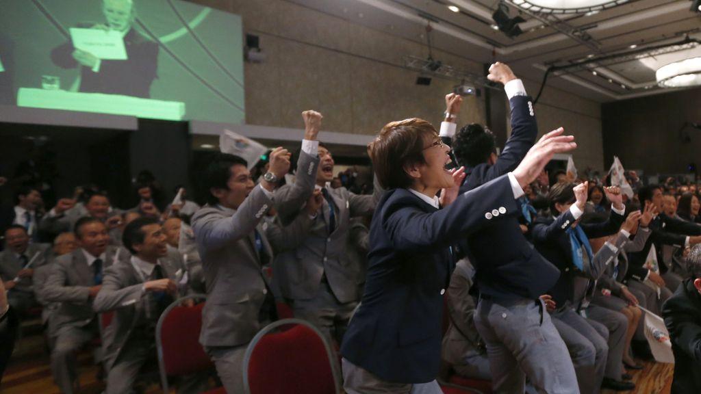 Alegría de la delegación de Tokio