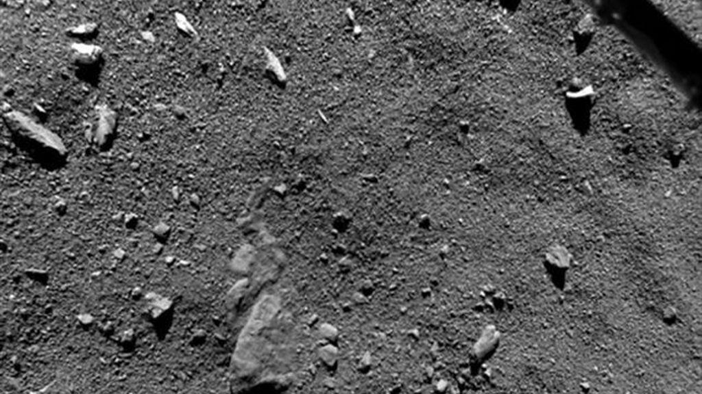 Philae capta las mejores imágenes de la superficie de un cometa