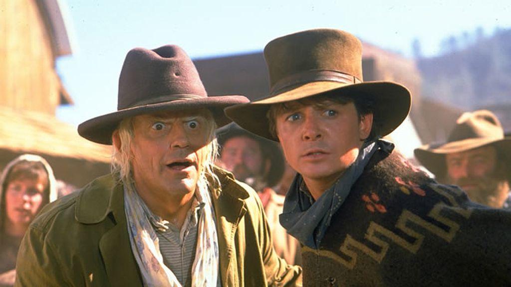 Marty McFly y Doc en Regreso al Futuro III