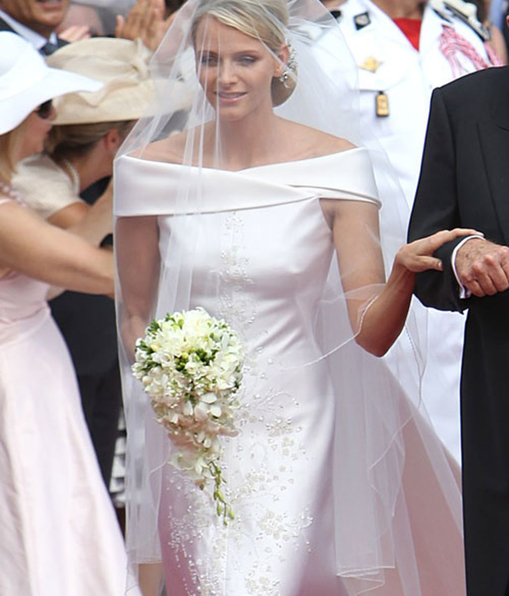 Charlene, la novia sobria y retraída