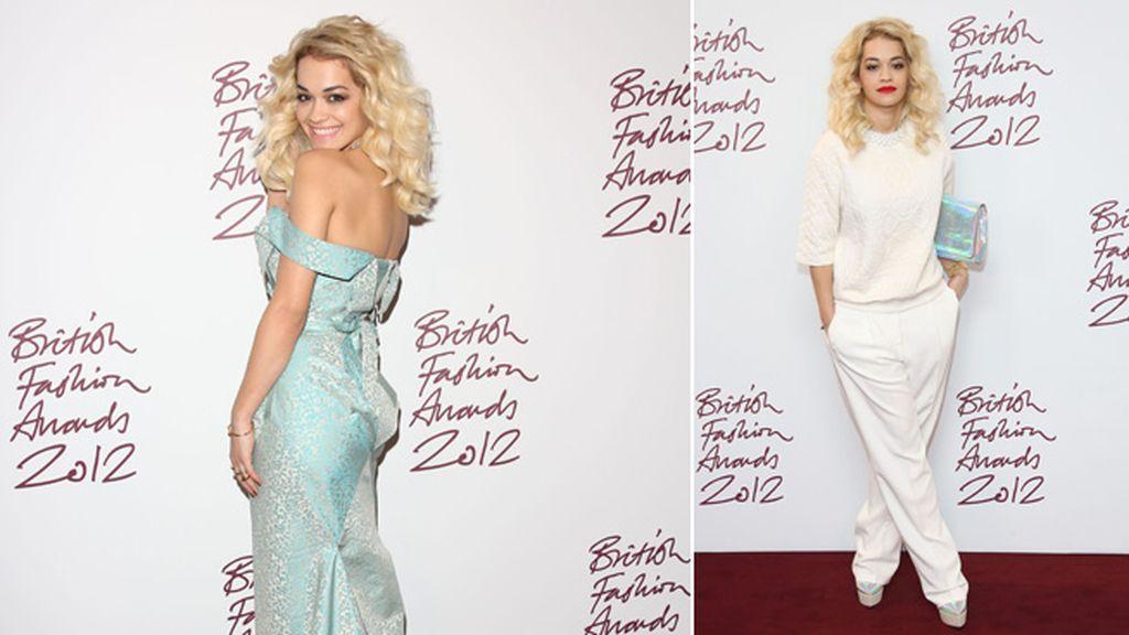 Rita Ora apostó por la comodidad: de vestido sirena a look total white
