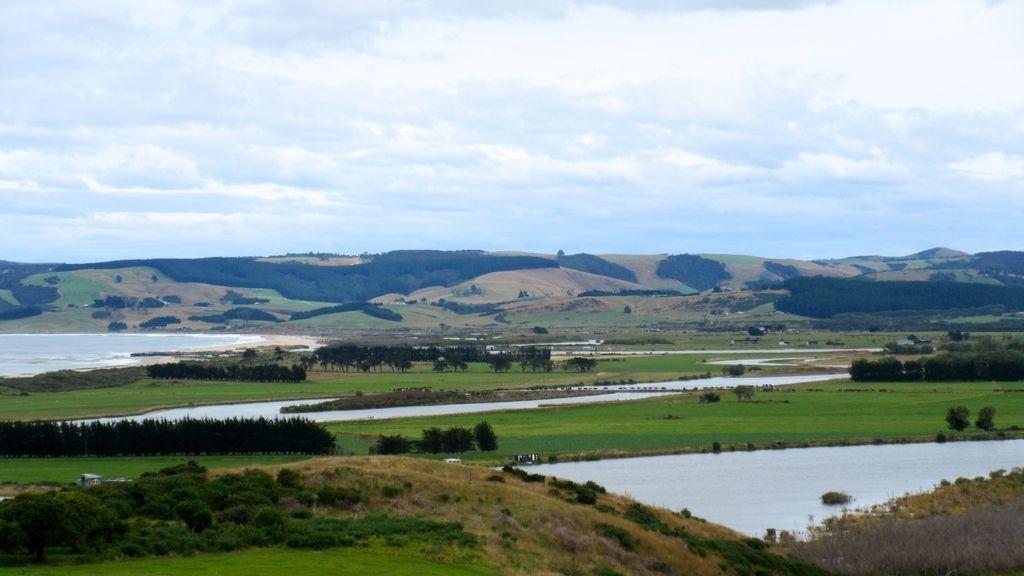 La desembocadura del río Clutha, Kaitangata, paraíso en Nueva Zelanda