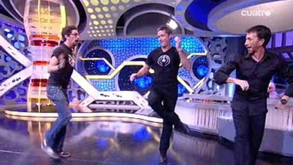 El baile de Matthew Fox con Marron y Pablo Motos