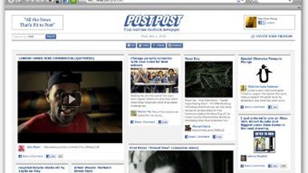 PostPost, el periódico de Facebook para que cuelgues la información que más te interesa. Tú eres el editor.
