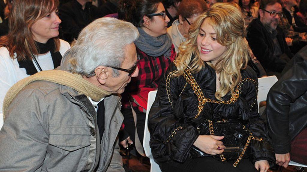 El bueno rollo entre Shakira y padre