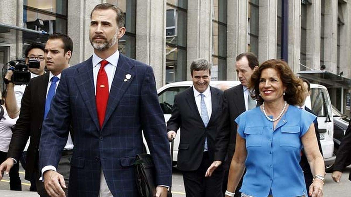 El Príncipe, en la presentación de la candidatura de Madrid 2020