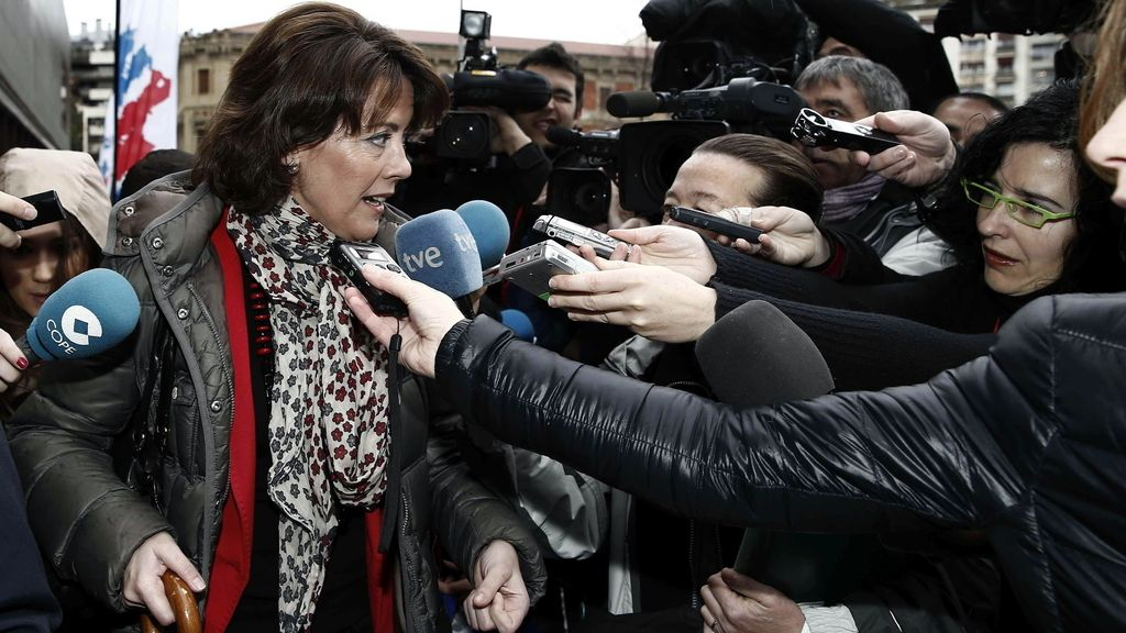 """Barcina llega al Congreso de UPN con """"un ánimo magnífico"""". Foto: EFE"""