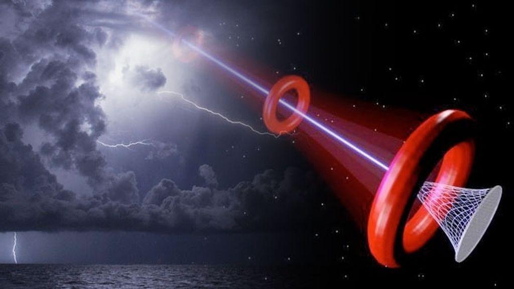 Inventan un láser que extrae relámpagos y lluvia de las nubes