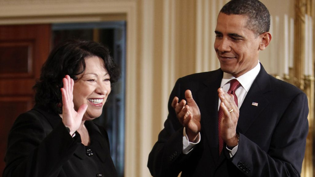 Obama aplaude a Sotomayor