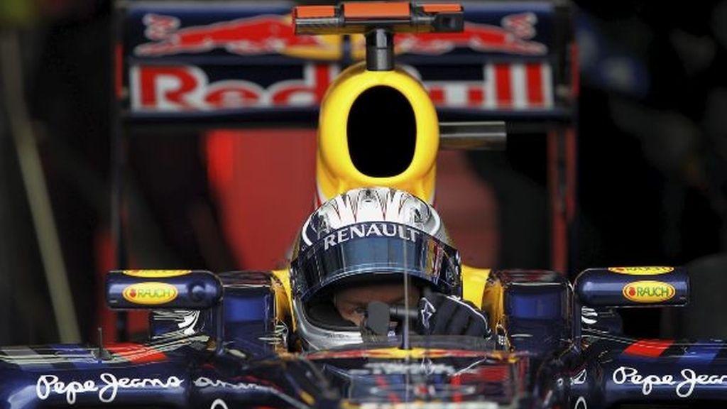Vettel, en su coche