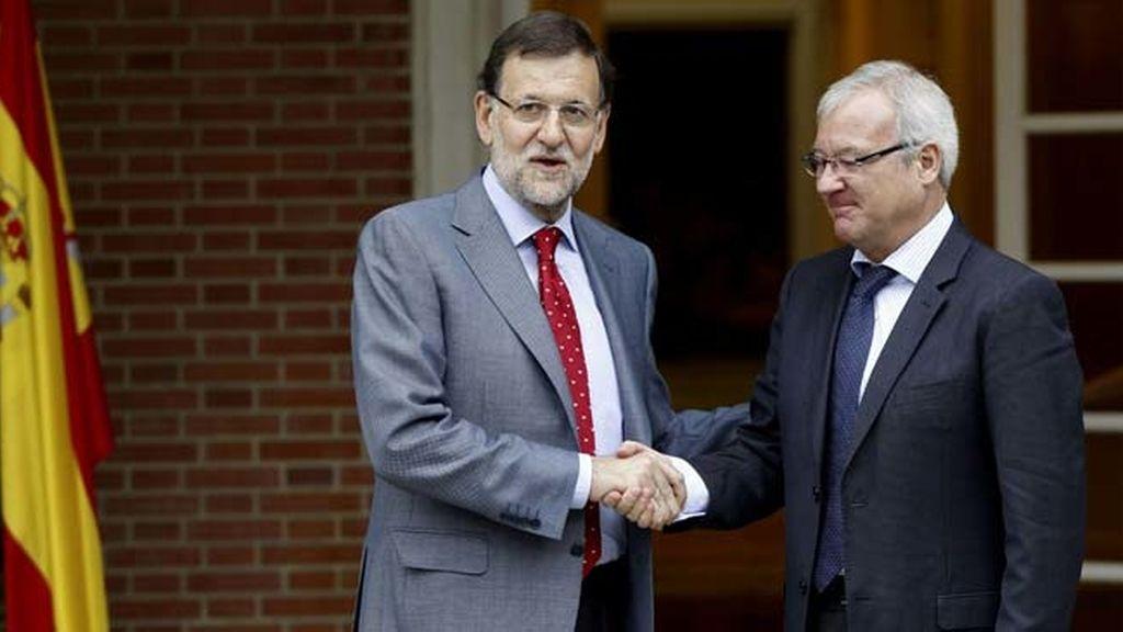 Mariano Rajoy recibe al presidente de Murcia, Ramon Luis Valcárcel