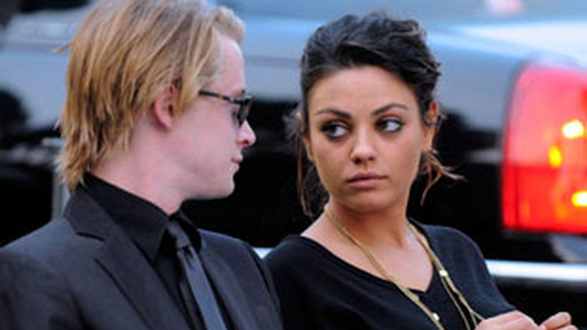 La pareja, en una de sus últimas apariciones públicas, durante el funeral de Michael Jackson en 2009. Foto: Gtres