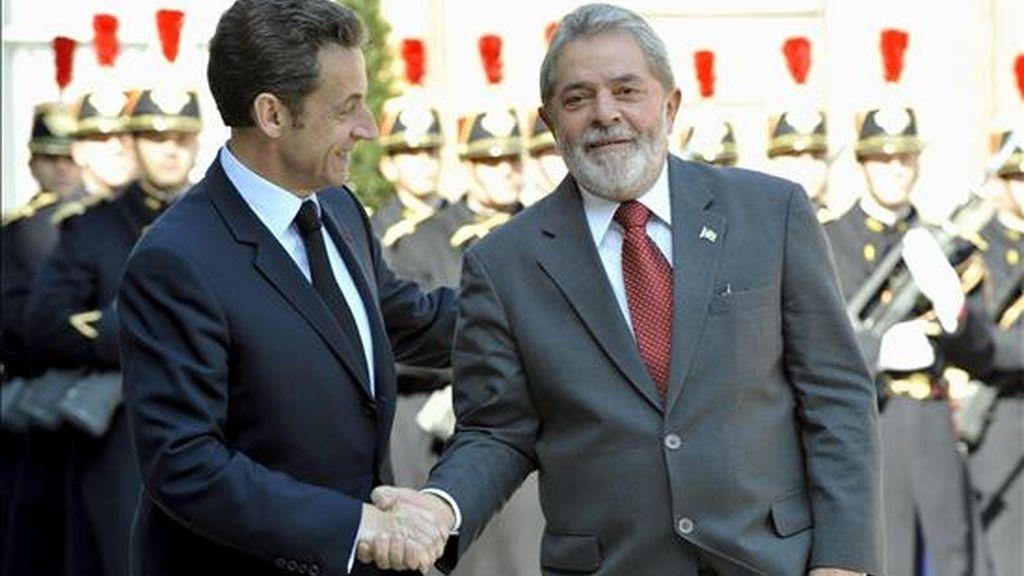 Lula y Sarkozy tienen previsto almorzar en la Misión de Brasil en la sede de las Naciones Unidas en Ginebra, según informó el portavoz de la Presidencia brasileña, Marcelo Baumbach. EFE/Archivo