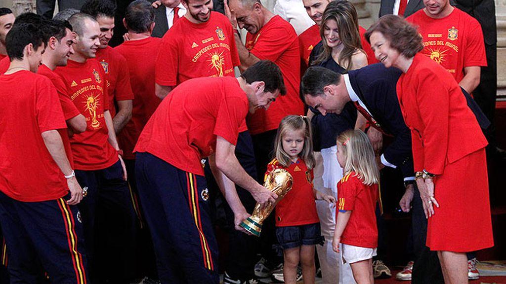 Celebró la victoria de España en el Mundial