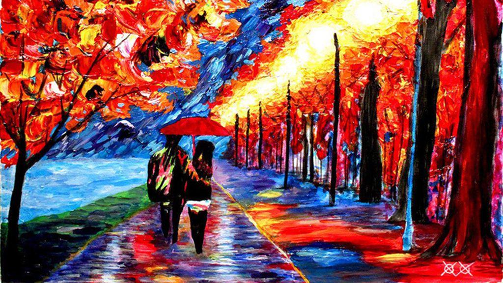 Un artista ciego se vale del tacto para pintar cuadros increíbles