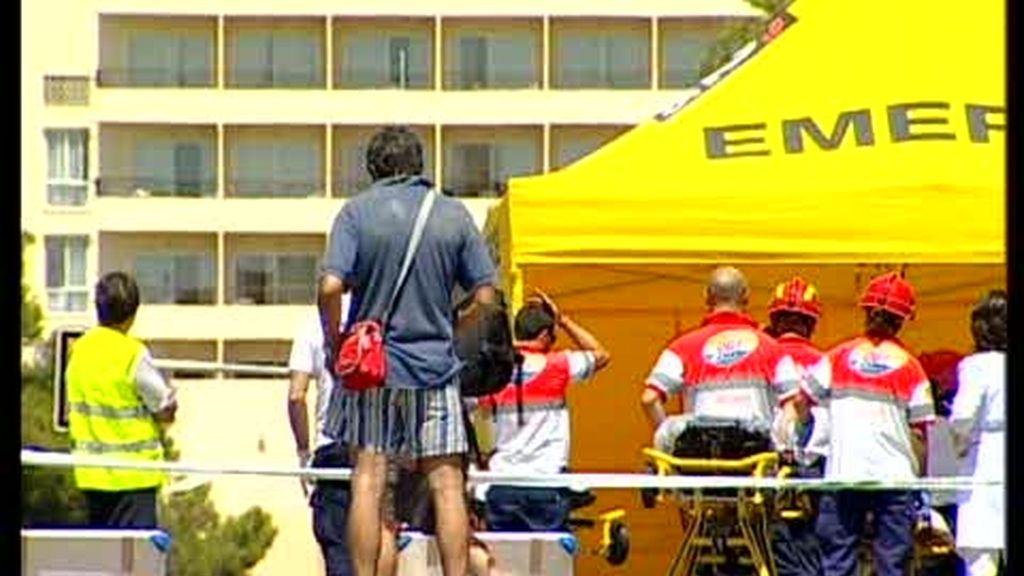 Primeras imágenes del lugar del atentado en Mallorca
