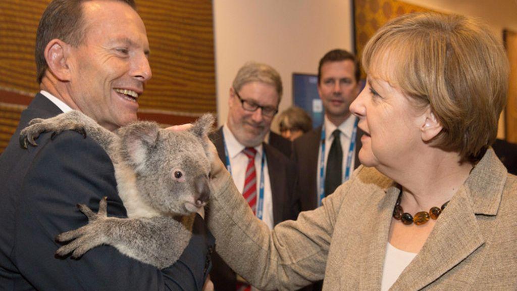 Tony Abott y Angela Merkel