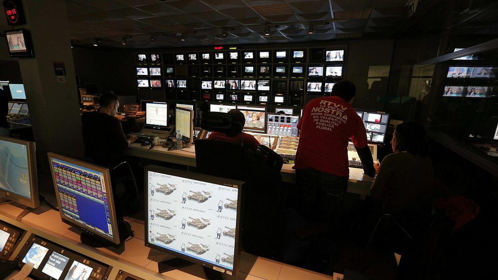 Sala de realización de la televisión valenciana