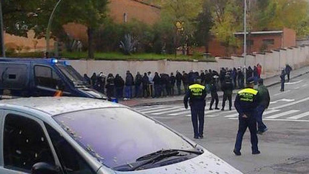 Pelea entre seguidores antes del encuentro en el Calderón