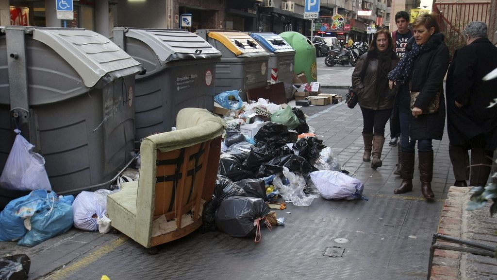 Huelga de basuras en Alicante