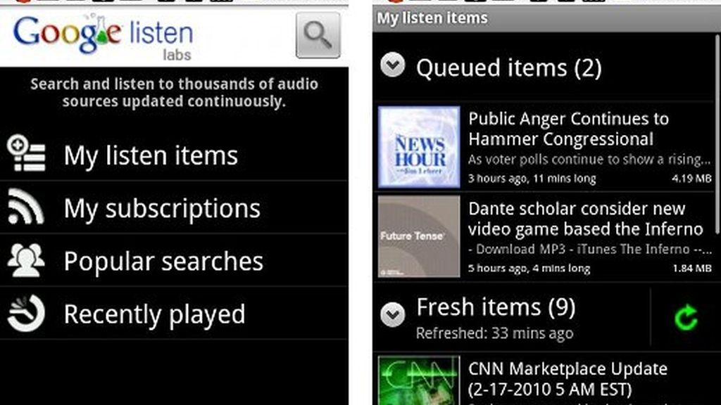 Google Listen, de los servicios que desaparecen.