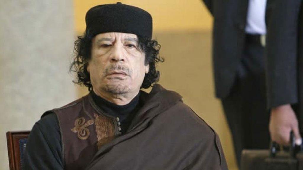 Gadafi en una imagen de archivo.