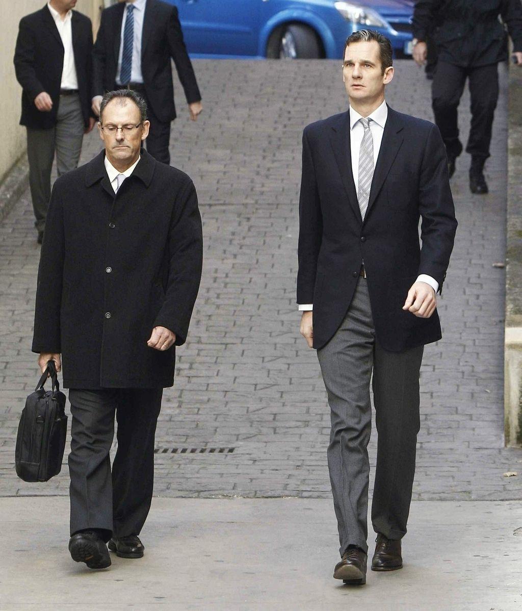 Urdangarin llega juzgados de Palma. Foto:EFE