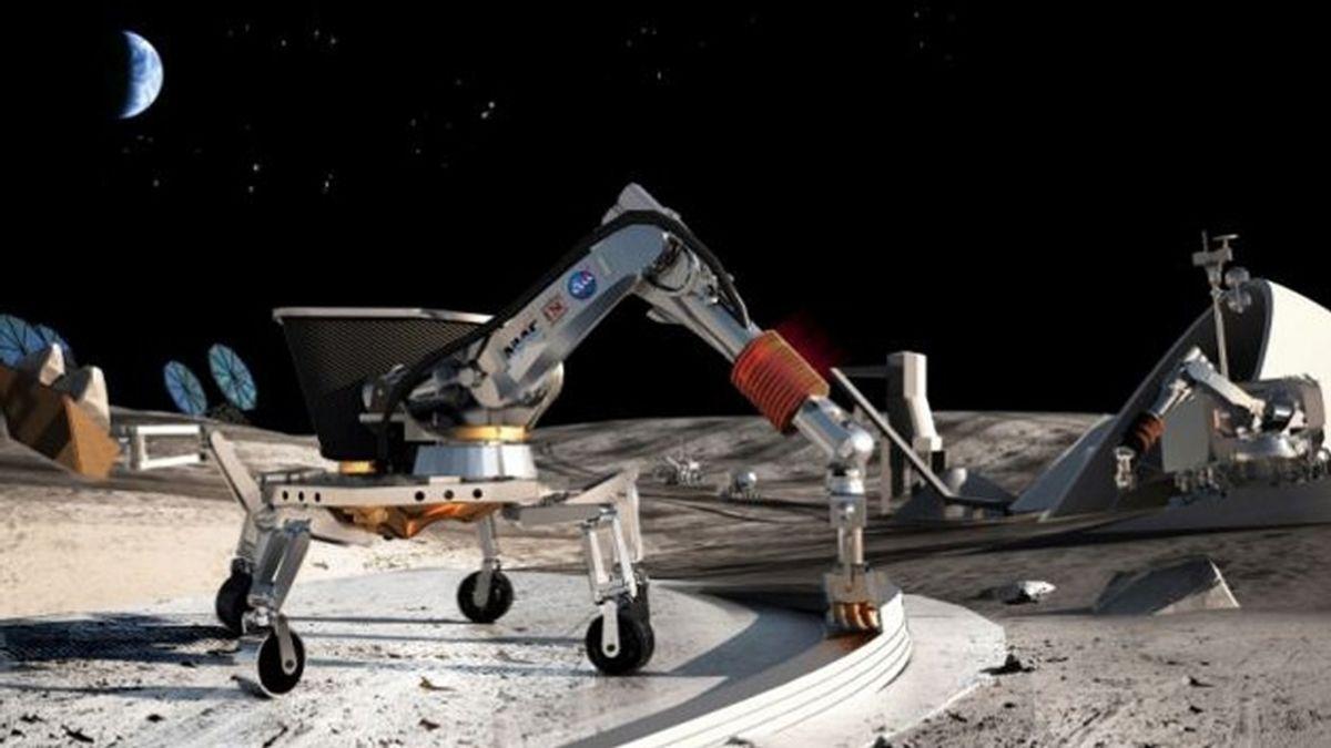 La NASA planea crear casas en la Luna con una impresora 3D