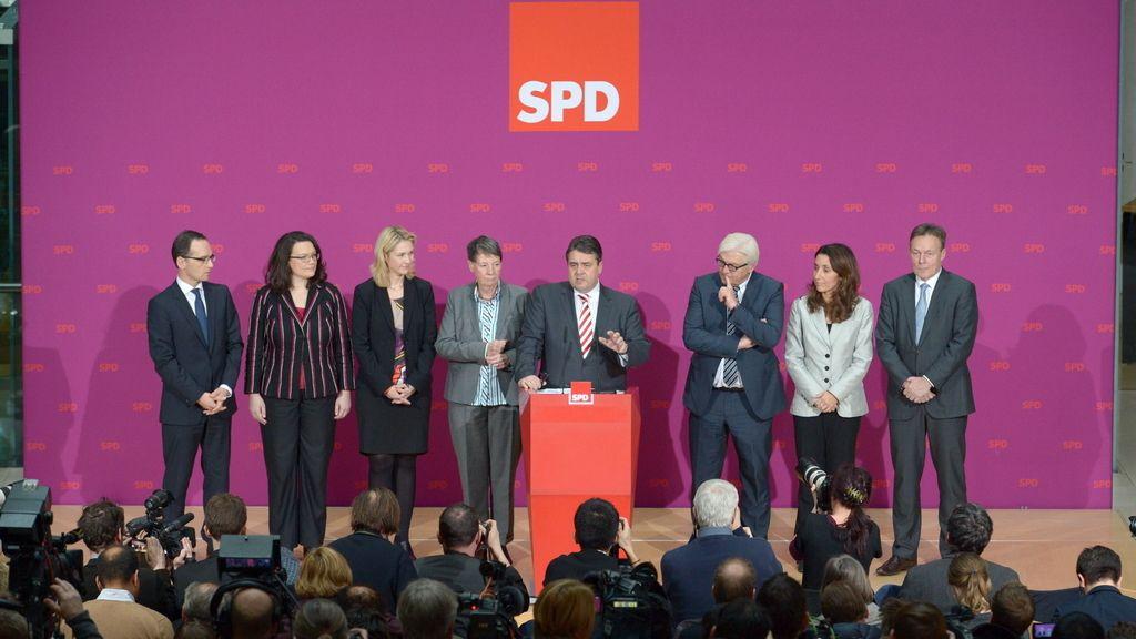 El SPD presenta a los seis ministros que tendrá en la 'gran coalición' liderada por Merkel