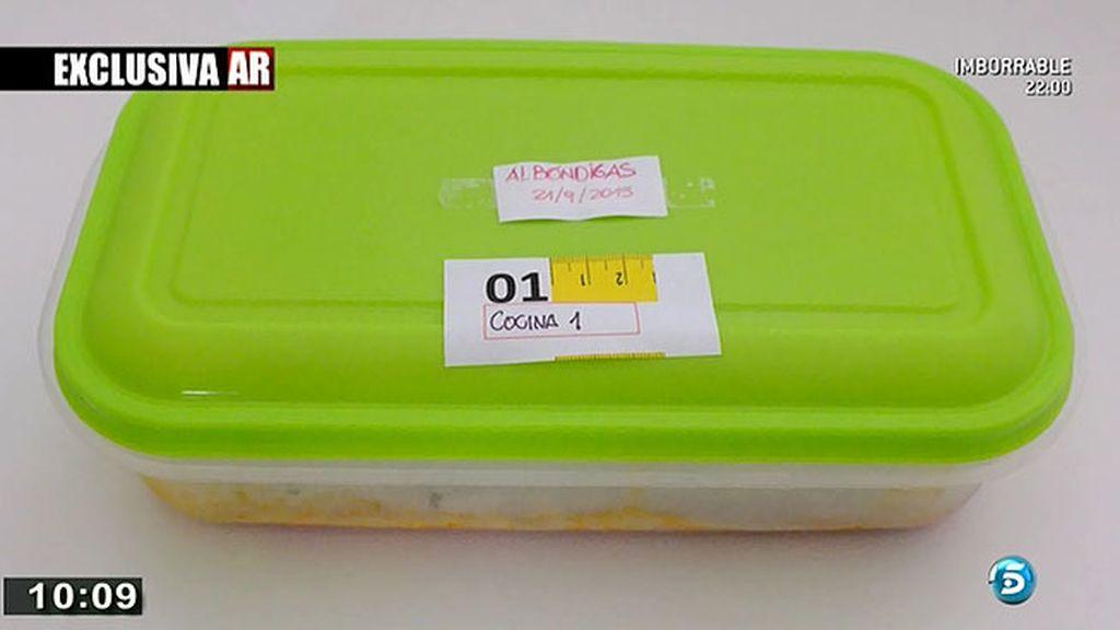 El tupper con los restos de comida del día del crimen