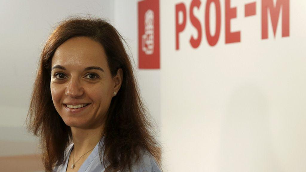 La nueva secretaria general del PSOE de Madrid (PSOE-M), Sara Hernández, en la sede del partido