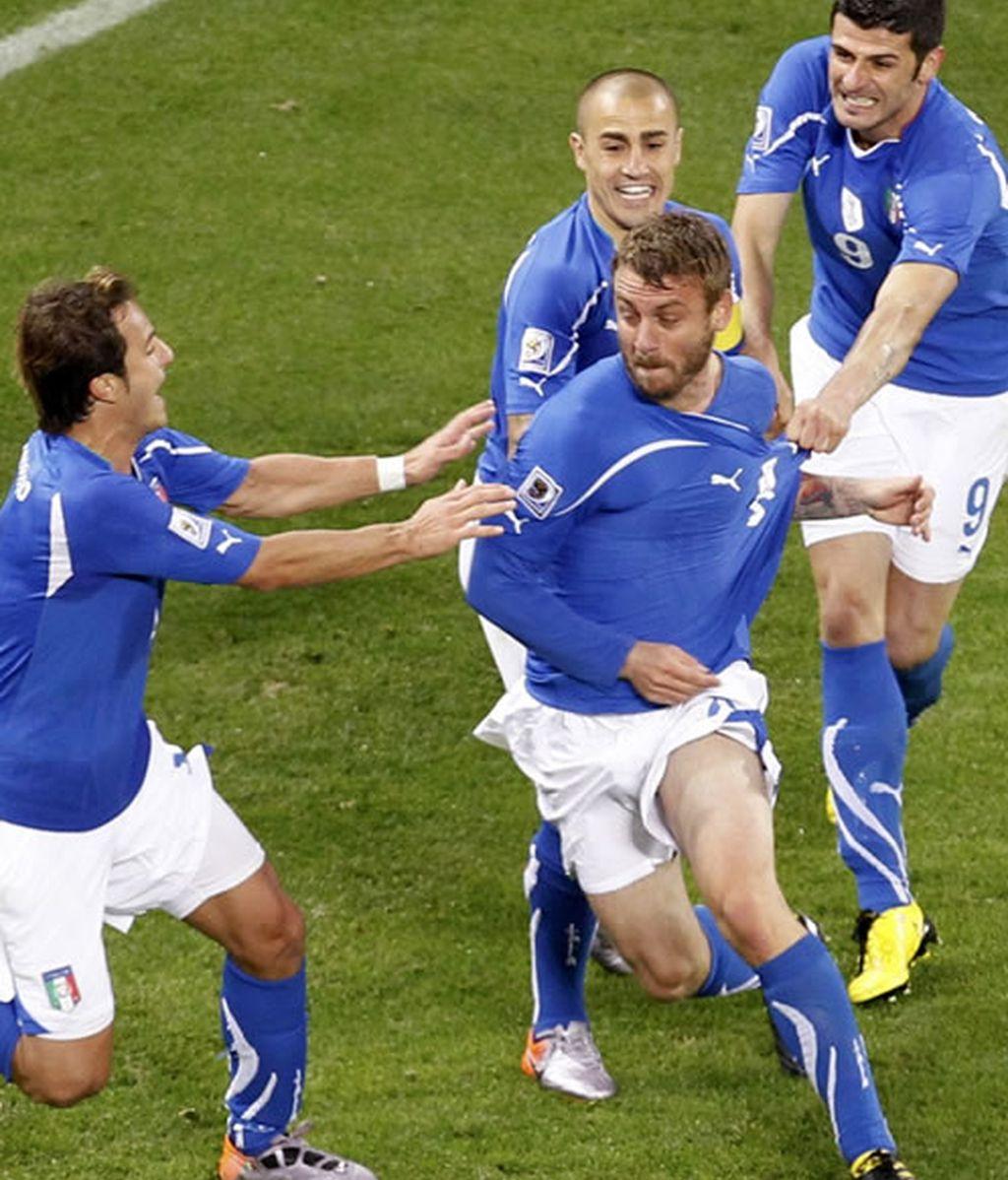 Italia sonríe con la derrota de España