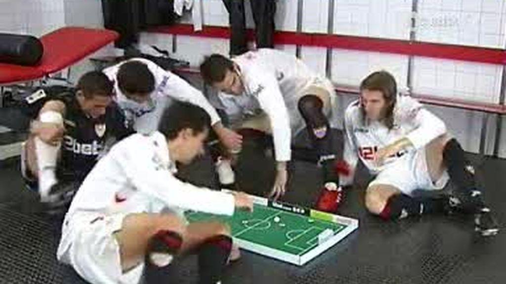 El Sevilla juega a las chapas
