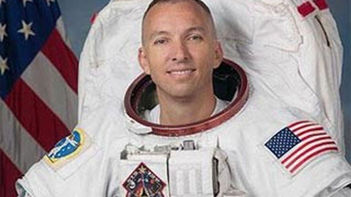 Imagen del astronauta Randy Bresnik que se acaba de convertir en padre durante un viaje espacial. Foto: AP