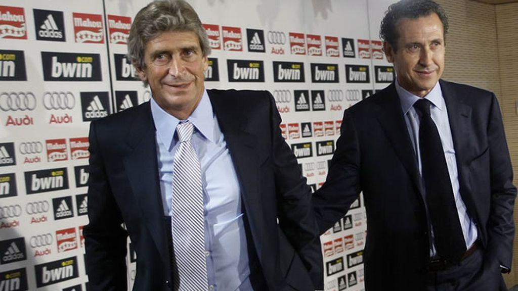 Jorge Valdano y Manuel Pellegrini