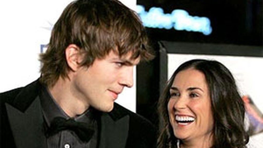 Ashton Kutcher y Demi Moore.