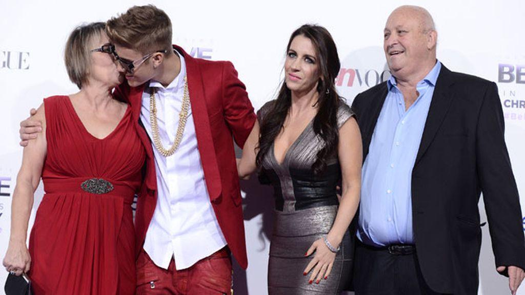 Justin Bieber, en el estreno de su película