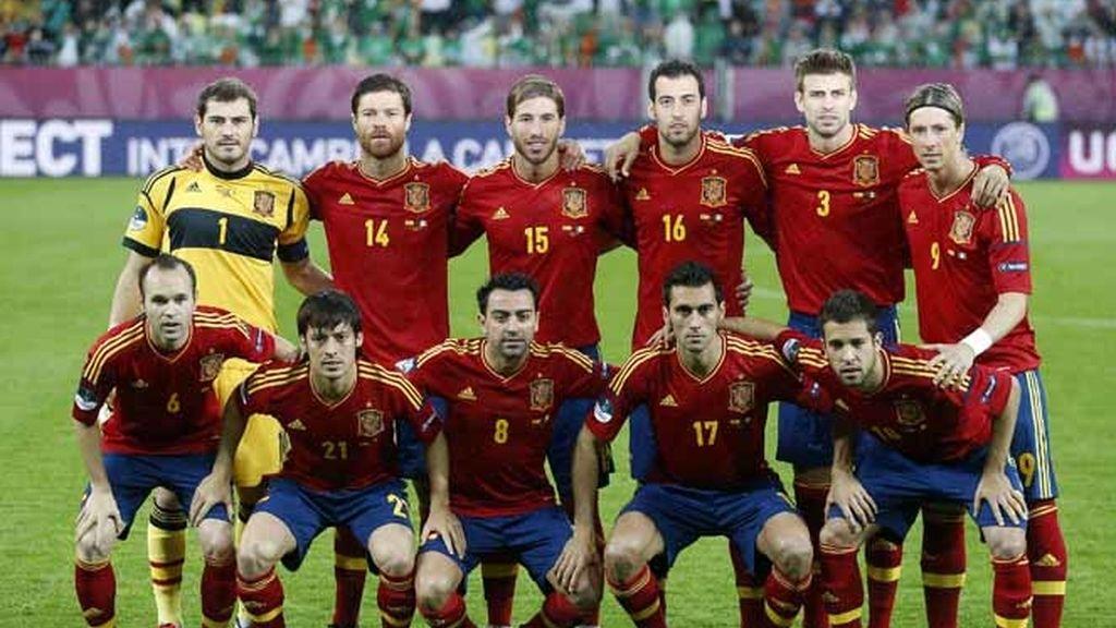 El once inicial de La Roja en el España - Irlanda