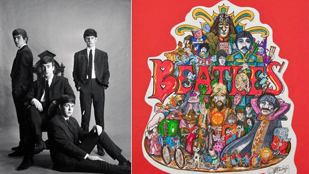 Dibujo para una carátula de los Beatles