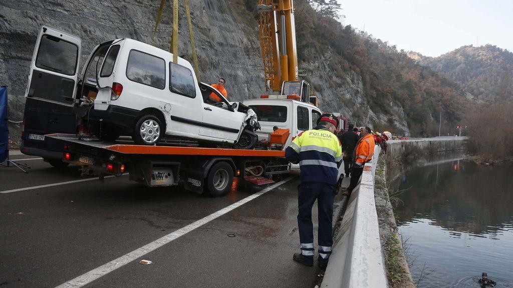 Accidente río Ter. Foto: EFE