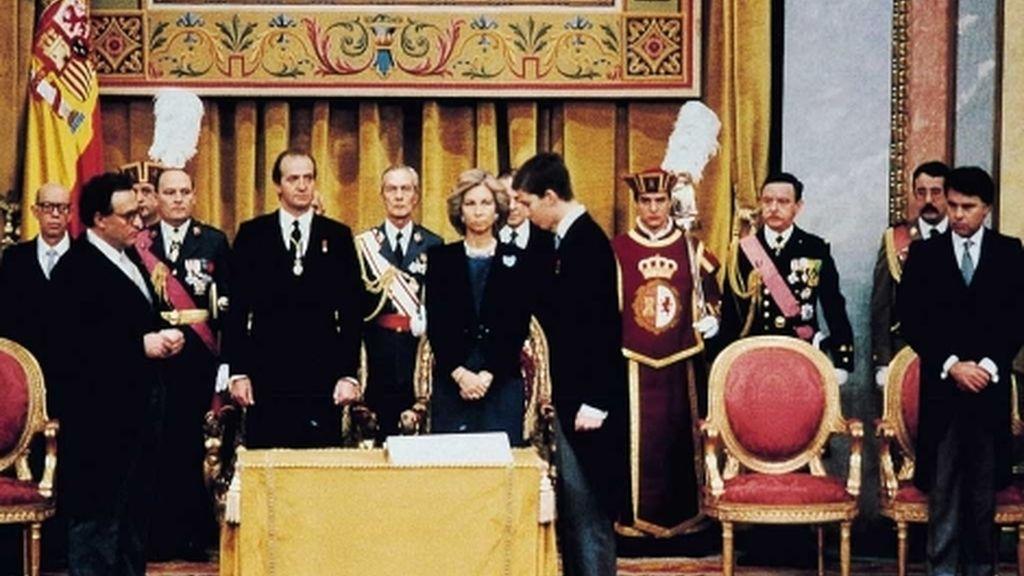 28 años después de jurar la Constitución, Don Felipe será proclamado Rey de España