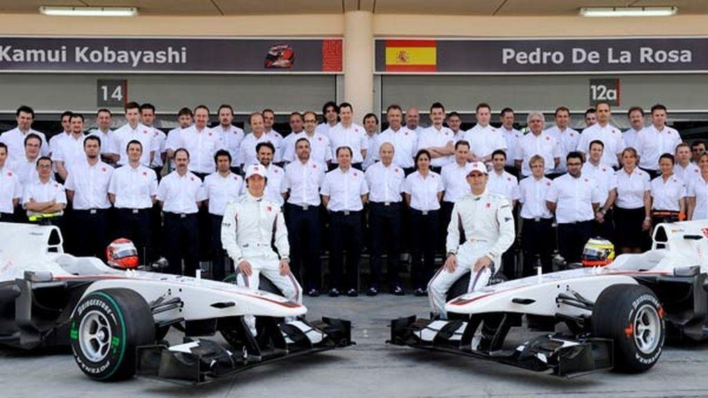 Equipo de BMW Sauber al completo