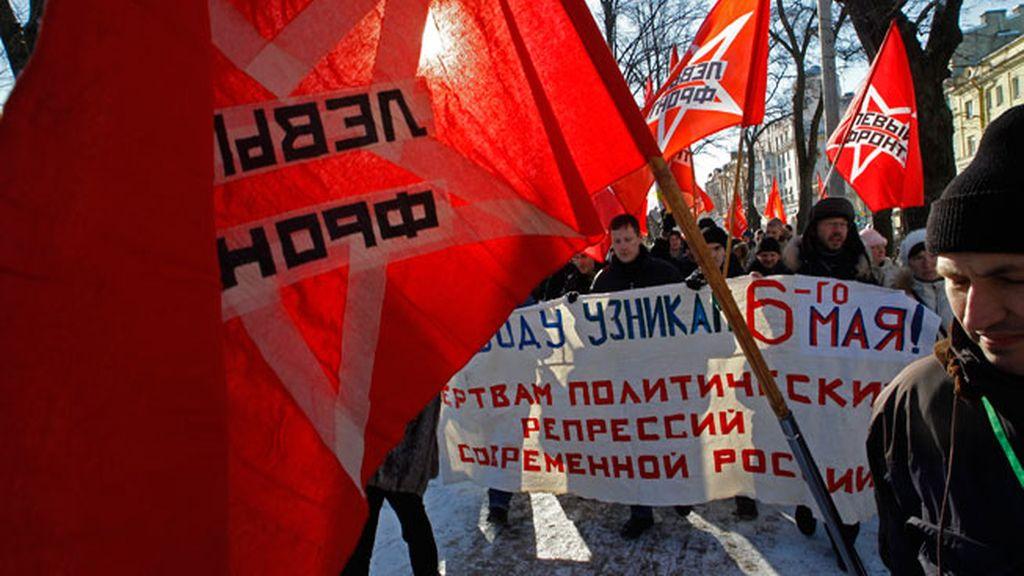 Manifestaciones a favor y en contra de Putin en Moscú