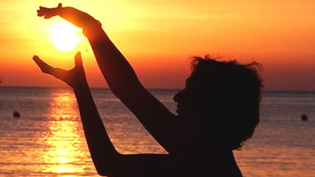 Jugando con la puesta de sol