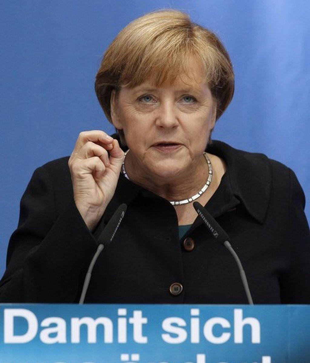 La canciller alemana, Angela Merkel, ha rechazado la posibilidad de una quiebra de Grecia.