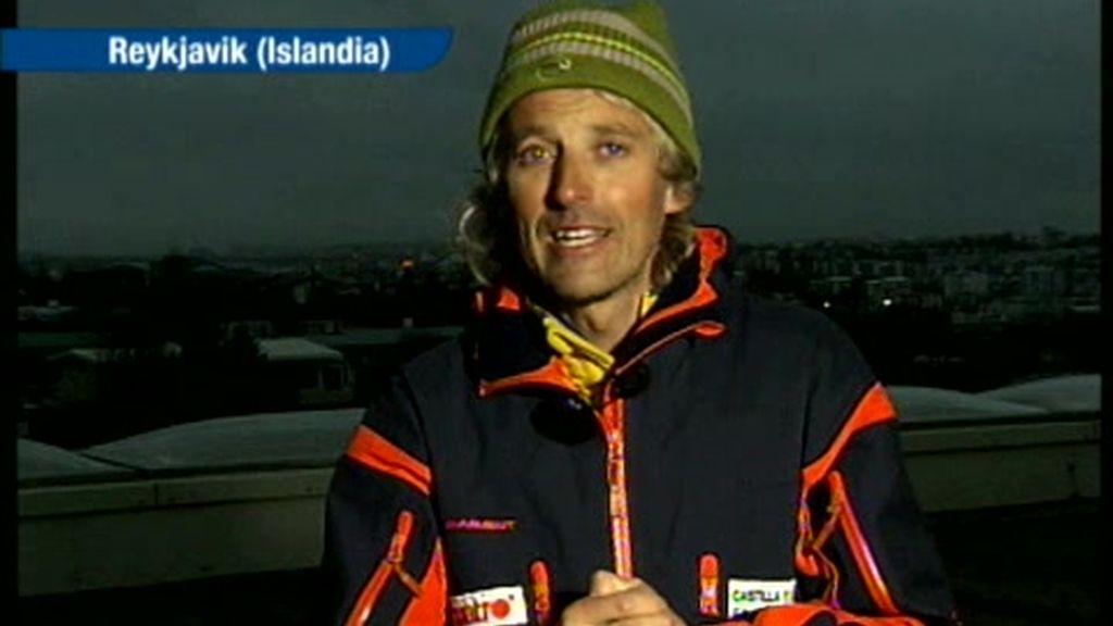 Calleja relata a Gabilondo cómo es la erupción de volcán islandés