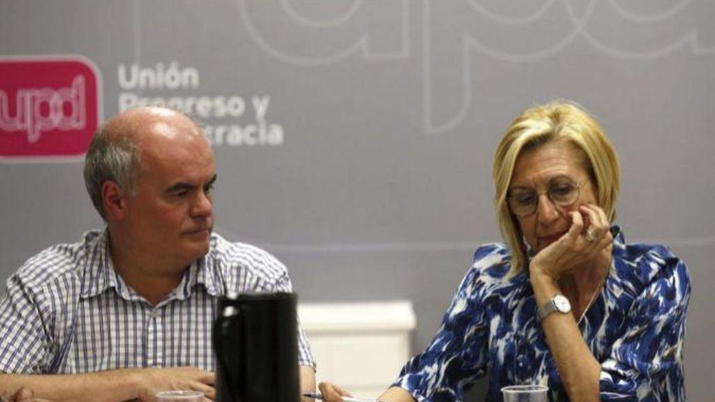 Carlos Martínez Gorriarán y Rosa Díez