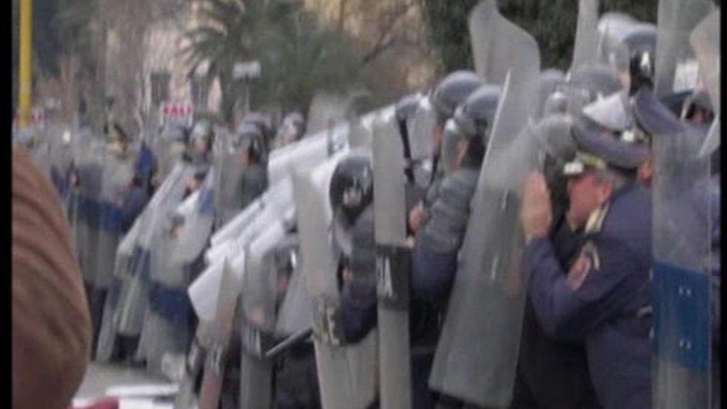 Disturbios en Albania