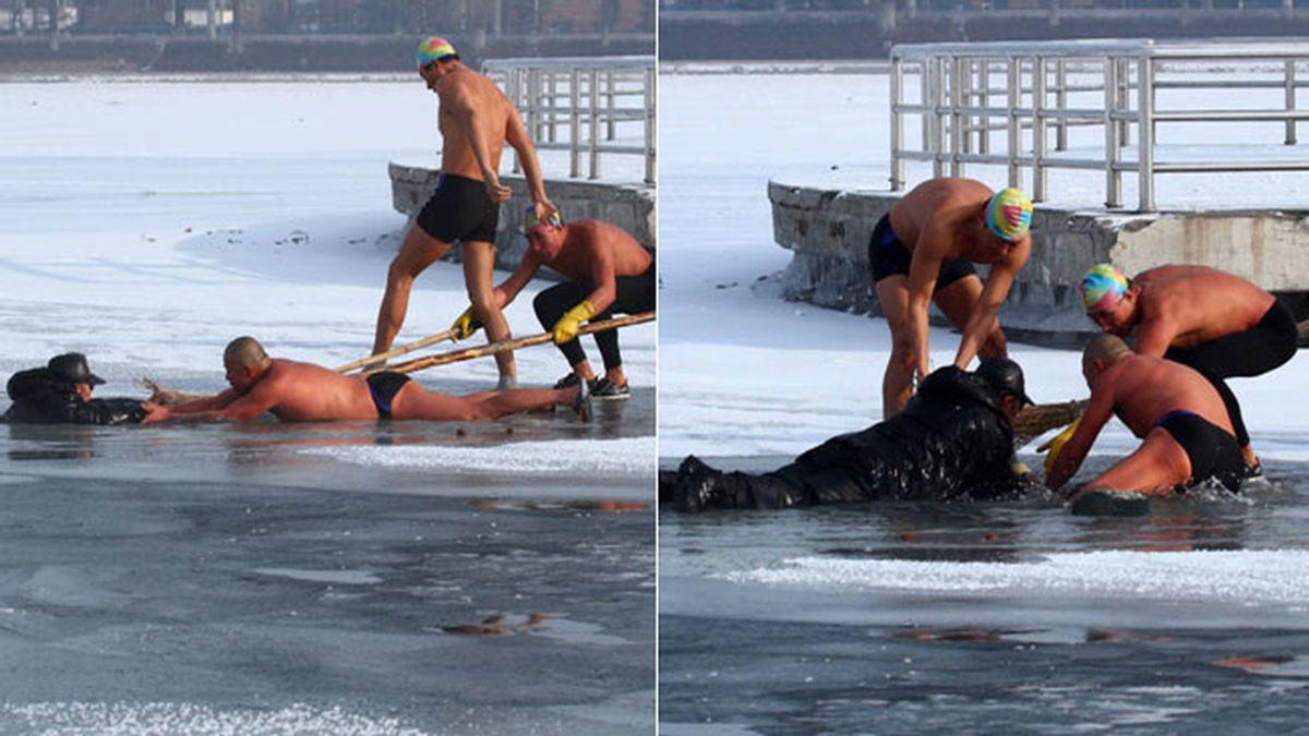 Rescate en el hielo