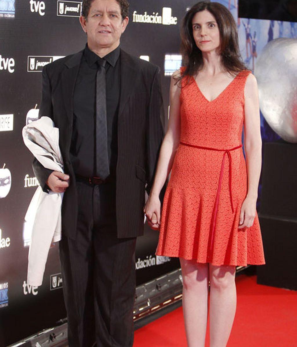 Pedro Casablanc y su mujer